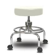 Perch Chairs & Stools Height Adjustable Exam Stool; Adobe White Vinyl