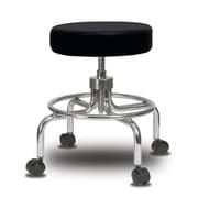 Perch Chairs & Stools Height Adjustable Exam Stool; Black Vinyl
