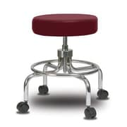 Perch Chairs & Stools Height Adjustable Exam Stool; Burgundy Vinyl