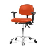 Perch Chairs & Stools 12'' Multi-Task Office Chair with Adjustable Armrests; Orange Kist