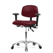 Perch Chairs & Stools 12'' Multi-Task Office Chair with Adjustable Armrests; Burgundy