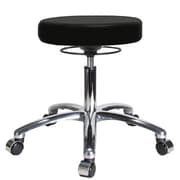 Perch Chairs & Stools Height Adjustable Massage Therapy Swivel Stool; Black Fabric
