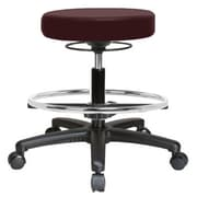 Perch Chairs & Stools Height Adjustable Massage Therapy Swivel Stool w/ Foot Ring; Burgundy Fabric