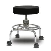 Perch Chairs & Stools Height Adjustable Exam Stool; Black