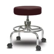 Perch Chairs & Stools Height Adjustable Exam Stool; Burgundy