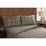 Remington Long Trail Plaid Sheet Set; Queen