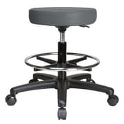 Perch Chairs & Stools Height Adjustable Swivel Stool w/ Foot Ring; Cinder Fabric