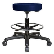 Perch Chairs & Stools Height Adjustable Swivel Stool with Foot Ring; Imperial Blue