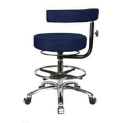 Perch Chairs & Stools Height Adjustable Dental Stool w/ Procedure Arm and Foot Ring; Imperial Fabric