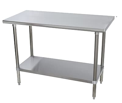 Advance Tabco 16 Gauge All Stainless Steel Workbench with Flat Top; 35.5'' H x 60'' W x 36'' D