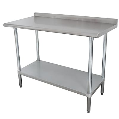 Advance Tabco 16 Gauge Stainless Steel Workbench with Backsplash; 40.5'' H x 96'' W x 24'' D