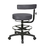 Perch Chairs & Stools Height Adjustable Dental Stool with Procedure Arm and  Foot Ring; Charcoal