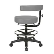 Perch Chairs & Stools Height Adjustable Dental Stool w/ Procedure Arm and  Foot Ring; Grey Vinyl