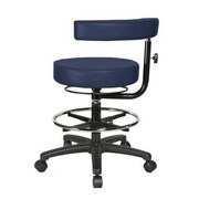 Perch Chairs & Stools Height Adjustable Dental Stool w/Procedure Arm and  Foot Ring; Imperial Blue
