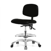 Perch Chairs & Stools 12'' Lab Chair with Foot Ring; Black