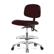 Perch Chairs & Stools 12'' Lab Chair with Foot Ring; Burgundy