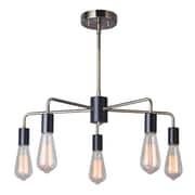 Woodbridge Ethan 5-Light Sputnik Chandelier; Brushed Brass/Black