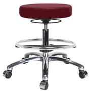 Perch Chairs & Stools Height Adjustable Massage Therapy Swivel Stool with Foot Ring; Burgundy