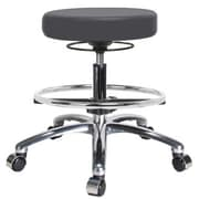 Perch Chairs & Stools Height Adjustable Massage Therapy Swivel Stool with Foot Ring; Charcoal