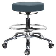 Perch Chairs & Stools Height Adjustable Massage Therapy Swivel Stool with Foot Ring; Colonial Blue
