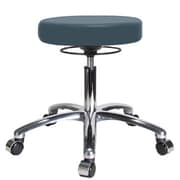 Perch Chairs & Stools Height Adjustable Massage Therapy Swivel Stool; Colonial Blue Vinyl