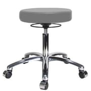Perch Chairs & Stools Height Adjustable Massage Therapy Swivel Stool; Grey Vinyl