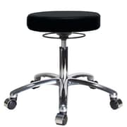 Perch Chairs & Stools Height Adjustable Massage Therapy Swivel Stool; Black Vinyl