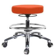 Perch Chairs & Stools Height Adjustable Massage Therapy Swivel Stool w/ Foot Ring; Orange Kist Vinyl