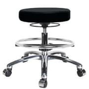 Perch Chairs & Stools Height Adjustable Massage Therapy Swivel Stool w/ Foot Ring; Black Vinyl