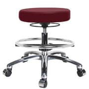 Perch Chairs & Stools Height Adjustable Massage Therapy Swivel Stool w/ Foot Ring; Burgundy Vinyl