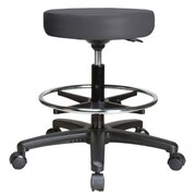 Perch Chairs & Stools Height Adjustable Swivel Stool with Foot Ring; Charcoal