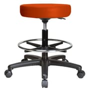 Perch Chairs & Stools Height Adjustable Swivel Stool w/ Foot Ring; Orange Kist Vinyl