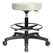 Perch Chairs & Stools Height Adjustable Swivel Stool with Foot Ring; Adobe White