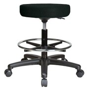 Perch Chairs & Stools Height Adjustable Swivel Stool with Foot Ring; Black