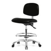 Perch Chairs & Stools 12'' Office Chair with Foot Ring; Black