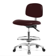 Perch Chairs & Stools 12'' Office Chair with Foot Ring; Burgundy