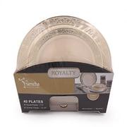 Bluesky Trading Royalty 40 Piece Plate Set (Set of 40); Ivory