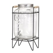 Woodland Imports Nantucket Glass Drink 2-Piece Beverage Dispenser Set
