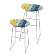 Woodland Imports Lexie 2 Piece Bar Stool Set