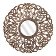 Woodland Imports Warman Carved Wood Mirror