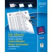 """Avery® - feuilles à auto plastification, 9"""" x  12"""". 2 mil"""