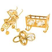MatashiCrystal 3 Piece Baby Ornament Set