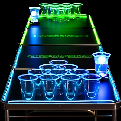 GlowPong Glowing Game Table; 27.75'' H x 2'' W x 8'' D