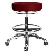 Perch Chairs & Stools Height Adjustable Medical Stool with Foot Ring; Burgundy