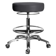 Perch Chairs & Stools Height Adjustable Medical Stool with Foot Ring; Charcoal