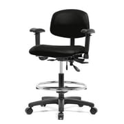 Perch Chairs & Stools Low-Back Drafting Chair; Black Fabric