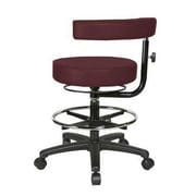 Perch Chairs & Stools Height Adjustable Dental Stool with Procedure Arm and Foot Ring; Burgundy