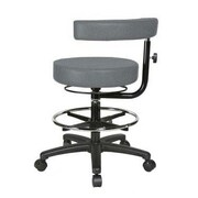 Perch Chairs & Stools Height Adjustable Dental Stool w/ Procedure Arm and Foot Ring; Cinder Fabric