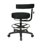 Perch Chairs & Stools Height Adjustable Dental Stool with Procedure Arm and Foot Ring; Black