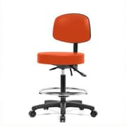 Perch Chairs & Stools Height Adjustable Doctor Stool w/ Foot Ring; Orange Kist Vinyl